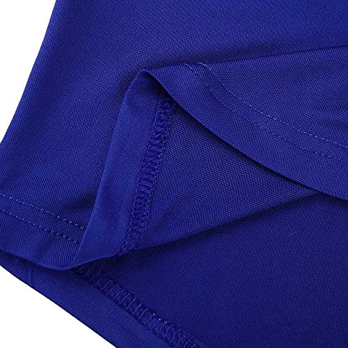 De Tallas Mujer Ropa Vestir Tiras Grandes Larga Frio Azul Solida Bbsmile Camisetas Fiesta Hombro Manga Elegante blusas Camisas 4P0x5qw