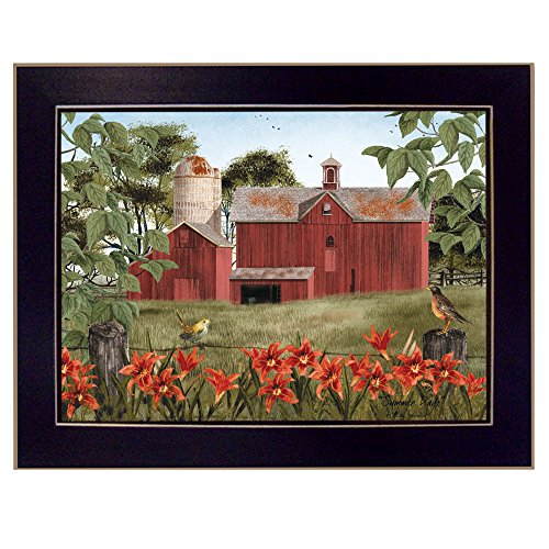 Trendy Decor4U Summer Days By Billy Jacobs, Printed Wall Art, Ready To Hang Framed Poster, Black Frame (Summer Day Framed)