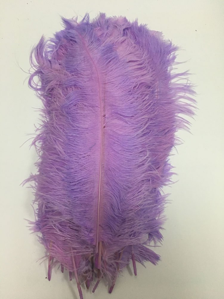 MELADY Pack of 1000pcs Natural Ostrich Feathers 16-18inch(40~45cm) for Home Wedding Party Decoration (Lavender)