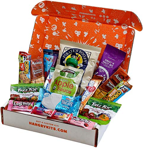 HANGRY KIT - Kids Kit - Care Package - Gift Pack - Variety of 17 Candies, Nuts, Cookies & Other Snacks Included - 100% (Best Care Package Ideas For College Students)