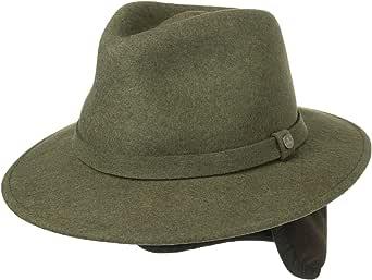 Lierys Traveller Sombrero de Fieltro con Orejeras Hombre - Sombrero de Exteriores Fabricado en Italia - Otoño/Invierno - Sombrero Impermeable - Plegable -