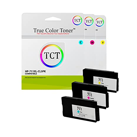 Amazon com: True Color Toner 711XL CMY Colour 3 Pack High