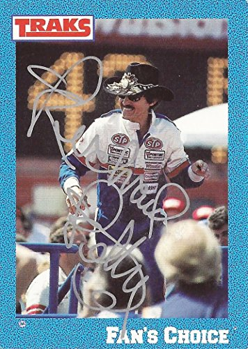 AUTOGRAPHED Richard Petty 1991 Traks Race Products FAN'S CHOICE Most Popular Driver (#43 STP Racing Team) Vintage Signed Collectible NASCAR Trading Card with COA