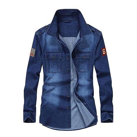Lino Camisas <BR>Camisa Casual de Moda para Hombre Camisa ...