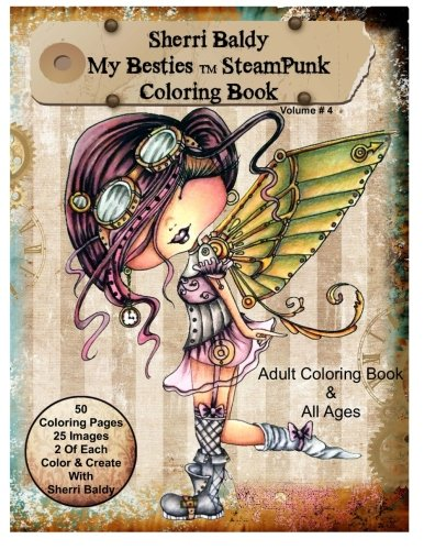 Sherri Baldy My-Besties Steampunk Coloring Book Array Small Back Chair