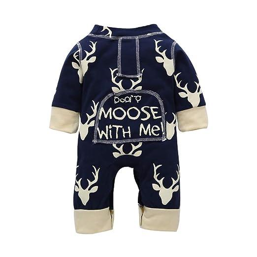 18ecefa51 Amazon.com  Keliay Christmas Newborn Infant Baby Boys Girls Deer ...