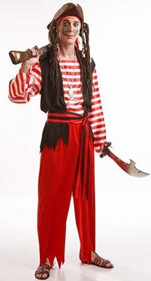 Disfraz de Hombre Pirata rayas para hombres: Amazon.es: Juguetes y ...