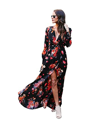 81fc24508d5d Womens Chiffon Maxi Dresses Beach Petite Crochet Fall Wedding Guest Dress  Halter Long Summer Dresses for