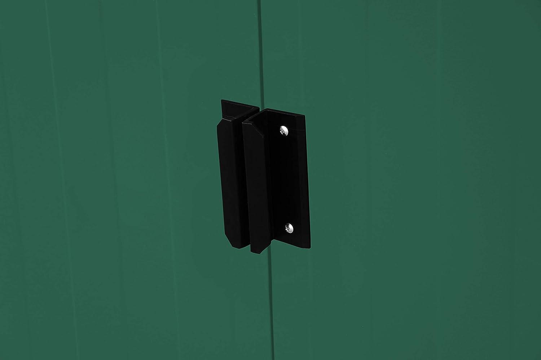 Duramax ECOPENTROOF 6X4 VR Caseta metálica Pent Roof un Agua (124 x 203 x 176 cm), Color Verde: Amazon.es: Jardín