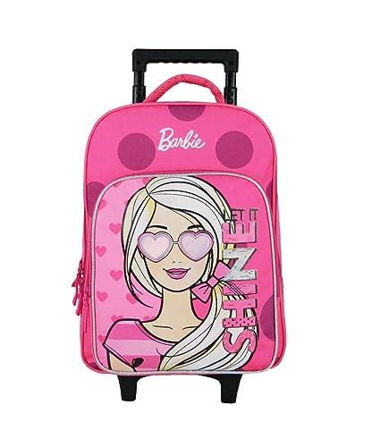 À Barbie Bagtrotter Dos Mattel Roulettes Sac RoseBagages CrdsxBhtQo
