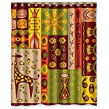 Sagatek Shower Curtains Of Colorful Geometry Polyester Width X Height / 72 X 72 Inches / W H 180 By 180 Cm Best... deal 2017