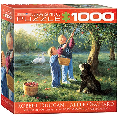 Apple Orchard by Robert Duncan 1000 Piece Puzzle by Eurographics, As Shown