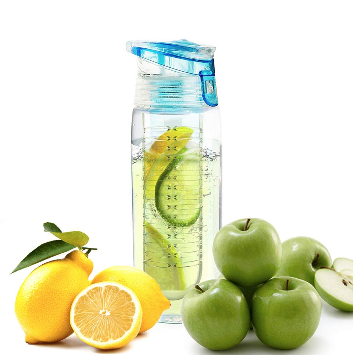 Asobu BTA712-8627 Revolutionary Pure Fruit Flavour 2 Go Water Infuser Bottle, Sky Blue Ad-n-art