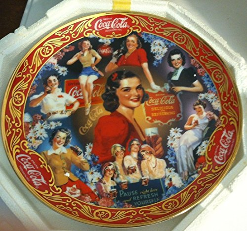 Coca Cola Collector Plate Limited Edition by Franklin Mint 30's Beauties 1998 - Fine Porcelain, heirloom Recommendation- PRISTINE!