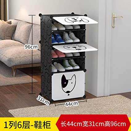 Amazoncom Easy Assembly Shoe Cabinet Plastic Storage Organizer