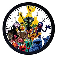 Extra Large Size 14 Sesame Street Wall Clock Home Office Decor or Nice For Gift W96