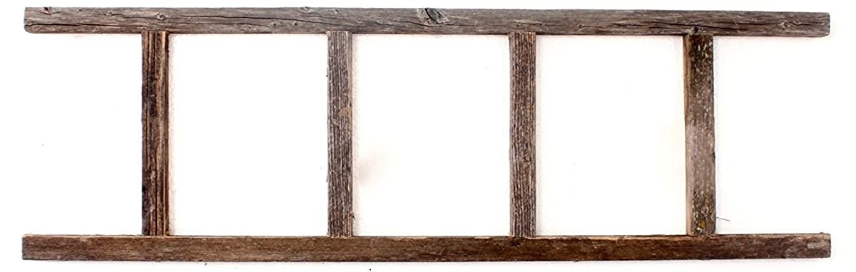 BarnwoodUSA Rustic 4 Foot Decorative Wooden Ladder - 100% Reclaimed Wood