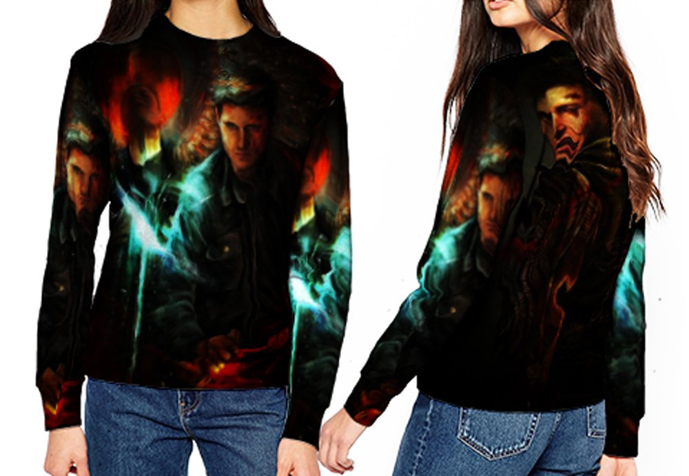 Sweatshirt Medium Supernatural Fashion Woman Art 16