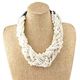 IPINK Women s Fashion Jewelry Pearl Multi-pearl Shell Necklace Chokers Chains Earring Jewelry Set