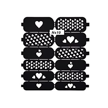 amazon com nail art template hollow out stickers nail hollow