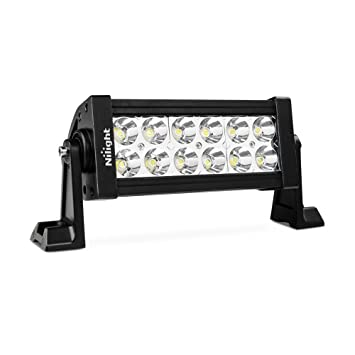Nilight 7 36w spot led work light off road led light bar 12v nilight 7quot 36w spot led work light off road led light bar 12v driving lights mozeypictures Choice Image