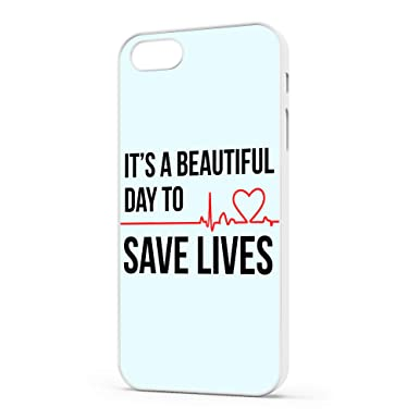 reputable site 5d414 b4edb Grey's Anatomy iPhone Case - Quote - It's A Beautiful Day To Save Lives  (iPhone 8 Plus)