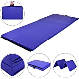 MAT EXPERT 4'x10'x2 Gymnastics Mat, Folding Exercise Aerobics Mat with Carrying Handles for Home Gym, Extra Thick High Density Anti-Tear Gymnastics Exercise Mat
