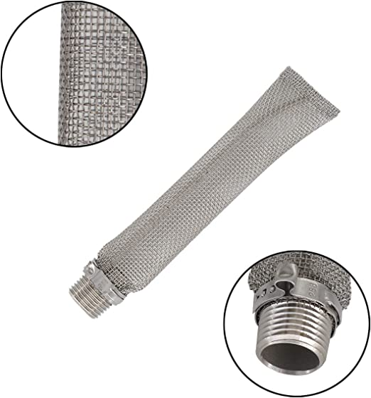 12 Inch 12 Kettle Tube Mash Tun Filter Stainless Steel Home Brew Beer Mash Filter Spigot Pot Filter Boil Screen Brew with 1//2NPT Pipe Fitting