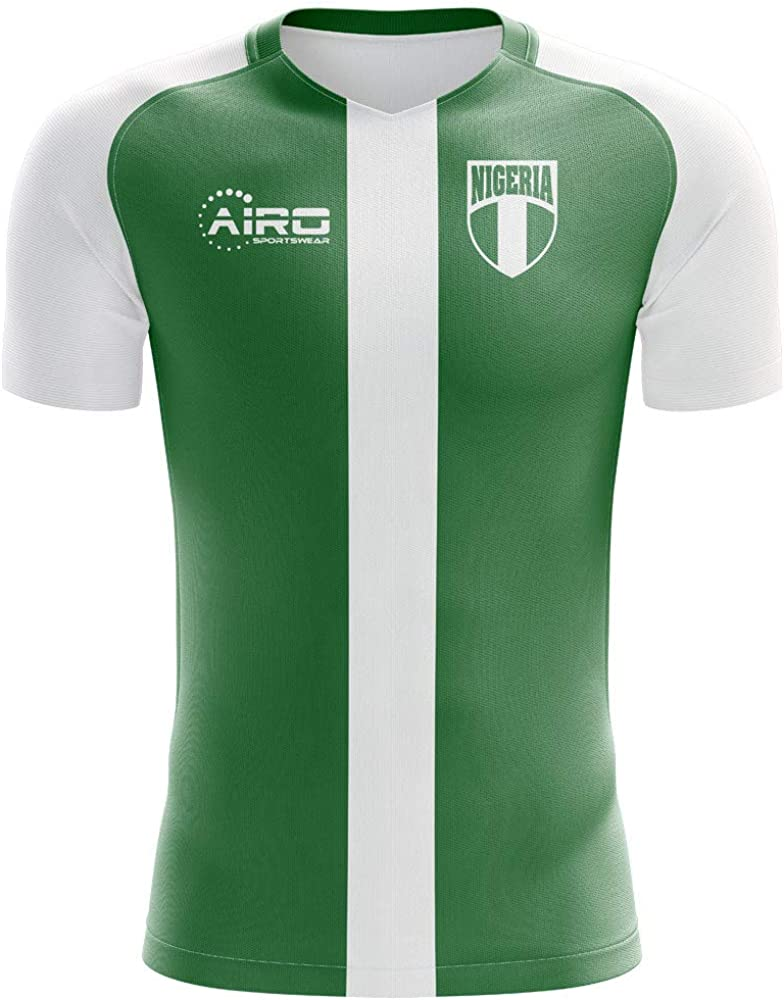 Airosportswear 2020-2021 Nigeria Flag Home Concept Football Soccer T-Shirt Jersey