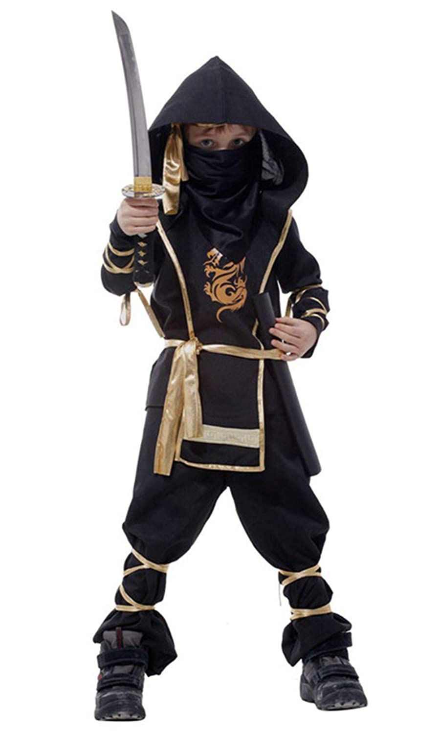 stylesilove Kid Boys Halloween Ninja Costume Cosplay Outfit Themed Party Birthdays Party Clothes