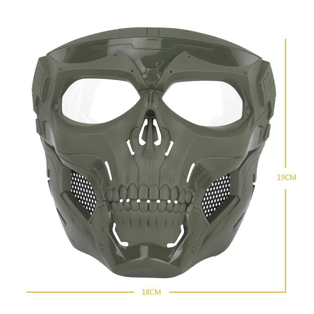 Paintball Jeux de Guerre en Plein air MOGOI Masque de Protection int/égral pour Airsoft