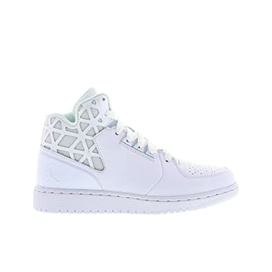 024e8fdd0 Amazon.com | Nike air Jordan 1 Flight 3 BG hi top Trainers 707320 Sneakers  Shoes (UK 4.5 us 5Y EU 37.5, White Pure Platinum White 100) | Basketball