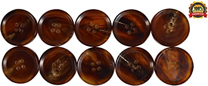 crafts 10 Chestnut coloured 4 hole Wooden Sewing Buttons 25mm Great Value art