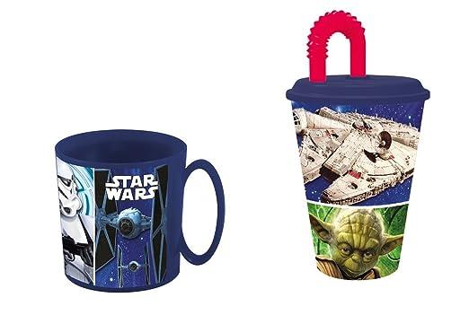 disney star wars,Taza apta para microondas y vaso.: Amazon.es: Hogar