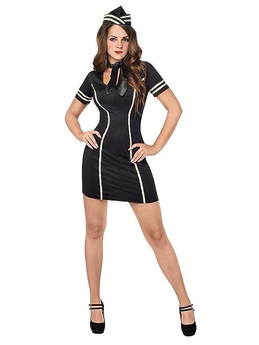 Generique - Disfraz Sexy de azafata para Mujer S/M: Amazon ...