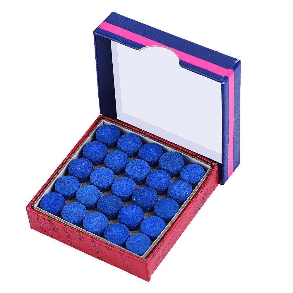 VGEBY1 50 Pcs/Lot Embouts de Queues, 13mm Pointes de Queue de Billard Cuir Conseils de Repères avec Boîte de Rangement pour Indicateurs de Billard