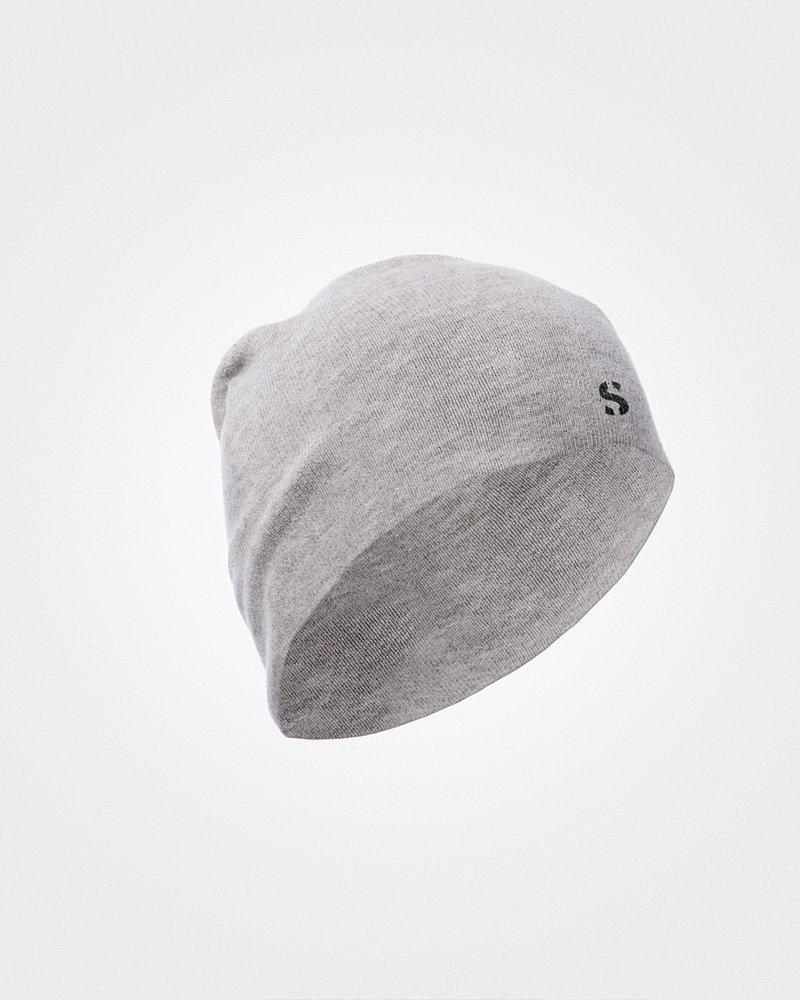 SilverSkin Intimo Termico in fibra d'Argento senza cuciture - Cappello - 100% MADE IN ITALY (Grigio Perla, UNI) Minuteknosport