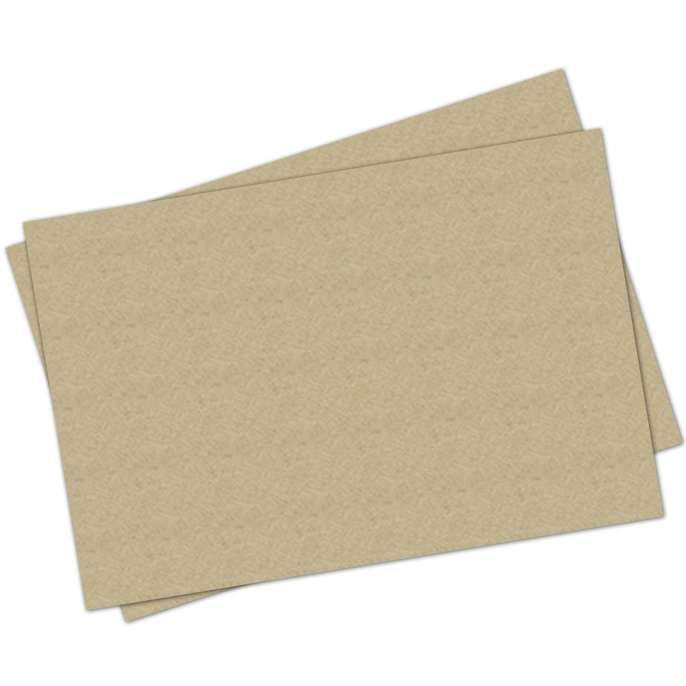 Note Card Cafe Paper Placemats - 48 count - 11'' x 17'' Kraft Paper