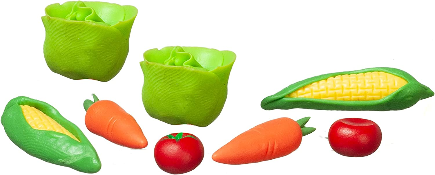 Melody Jane Dollhouse Mixed Vegetables Miniature Kitchen Greengrocers Food Shop Accessory