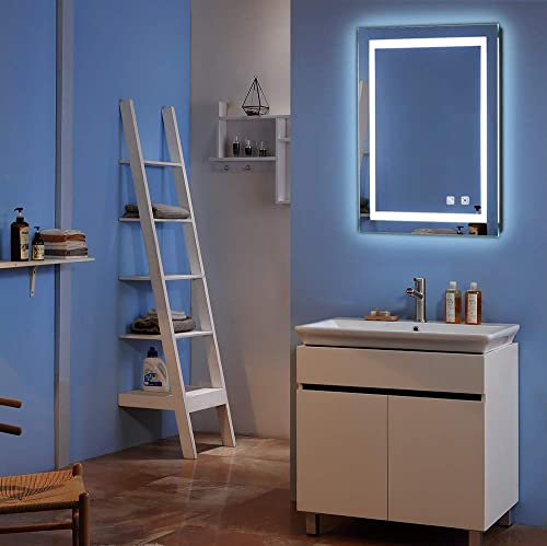 Bonnlo Led Dimmable Bathroom Mirror LED Lighted Wall Mounted Mirror