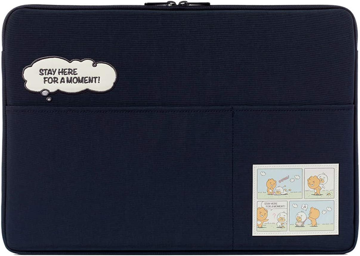 "KAKAO FRIENDS Official- Lazy Sunday Laptop Sleeve Case with Pockets 13"", 15"" (Navy) (13 inch)"