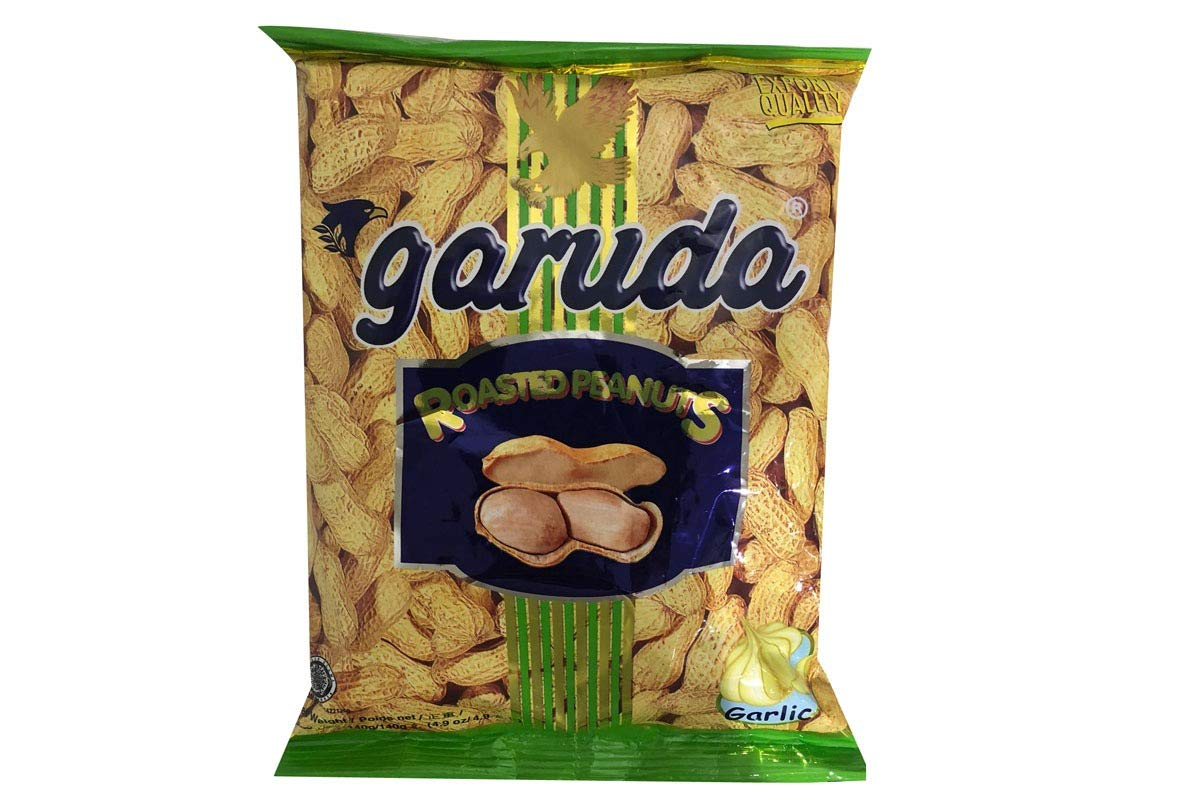 Roasted Peanuts in Shell (Garlic Flavor) - 4.9oz (Pack of 1) by Garuda (Image #1)