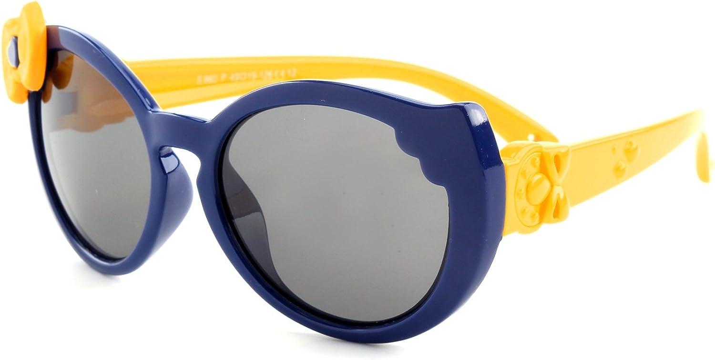 GQUEEN Occhiali da Sole Flessibili in Gomma Farfalla Polarizzati per Ragazzi Ragazze e Bambini dai 3 ai 7 anni,ET60