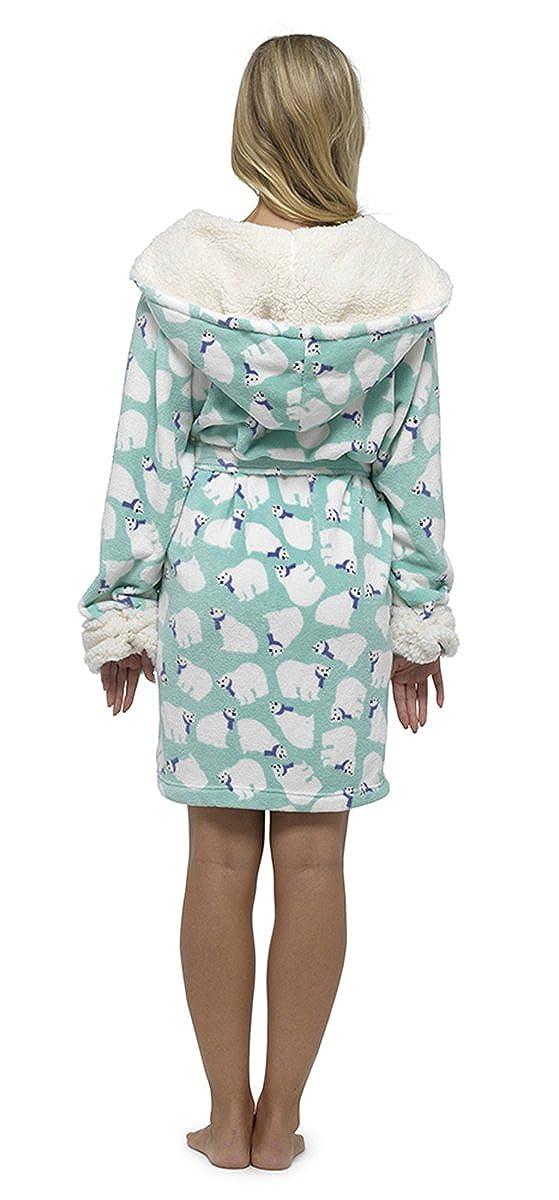 Krishwear Ladies Coral Fleece Polar Bear Robe 97c8cc5a4