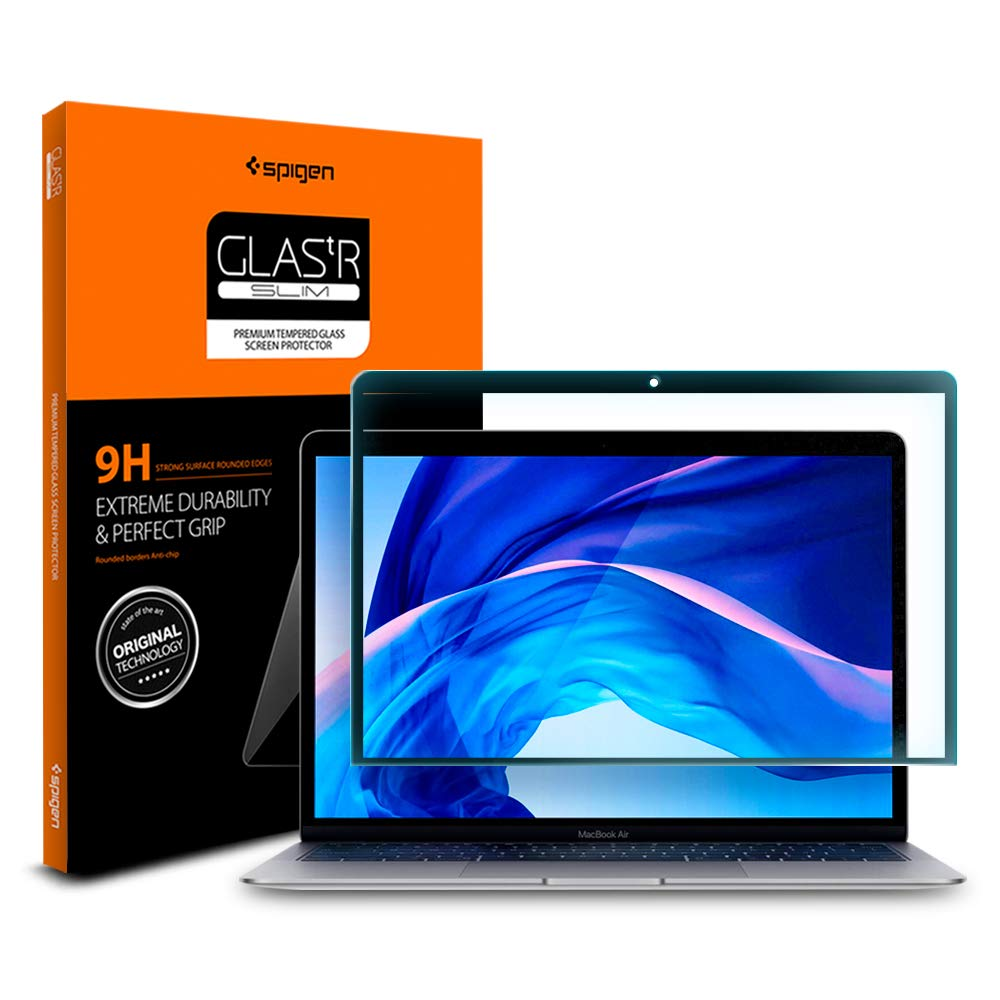 Spigen Tempered Glass Screen Protector Designed for MacBook Air/Pro 13inch [1PACK]