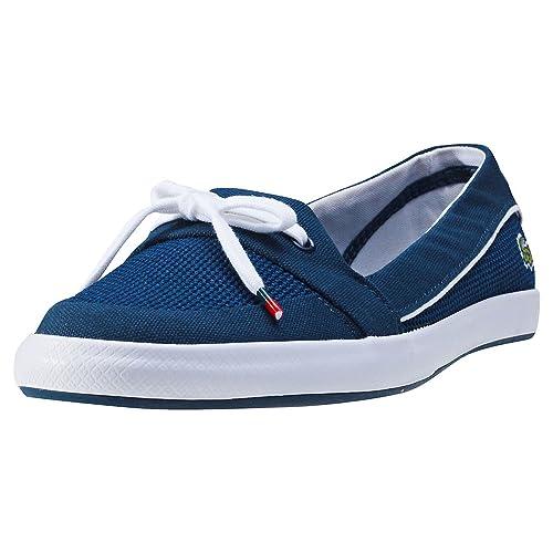 b5ed055f Lacoste Mujer Azul Marino Lancelle Boat 117 1 CAW Zapatos-UK 8: Amazon.