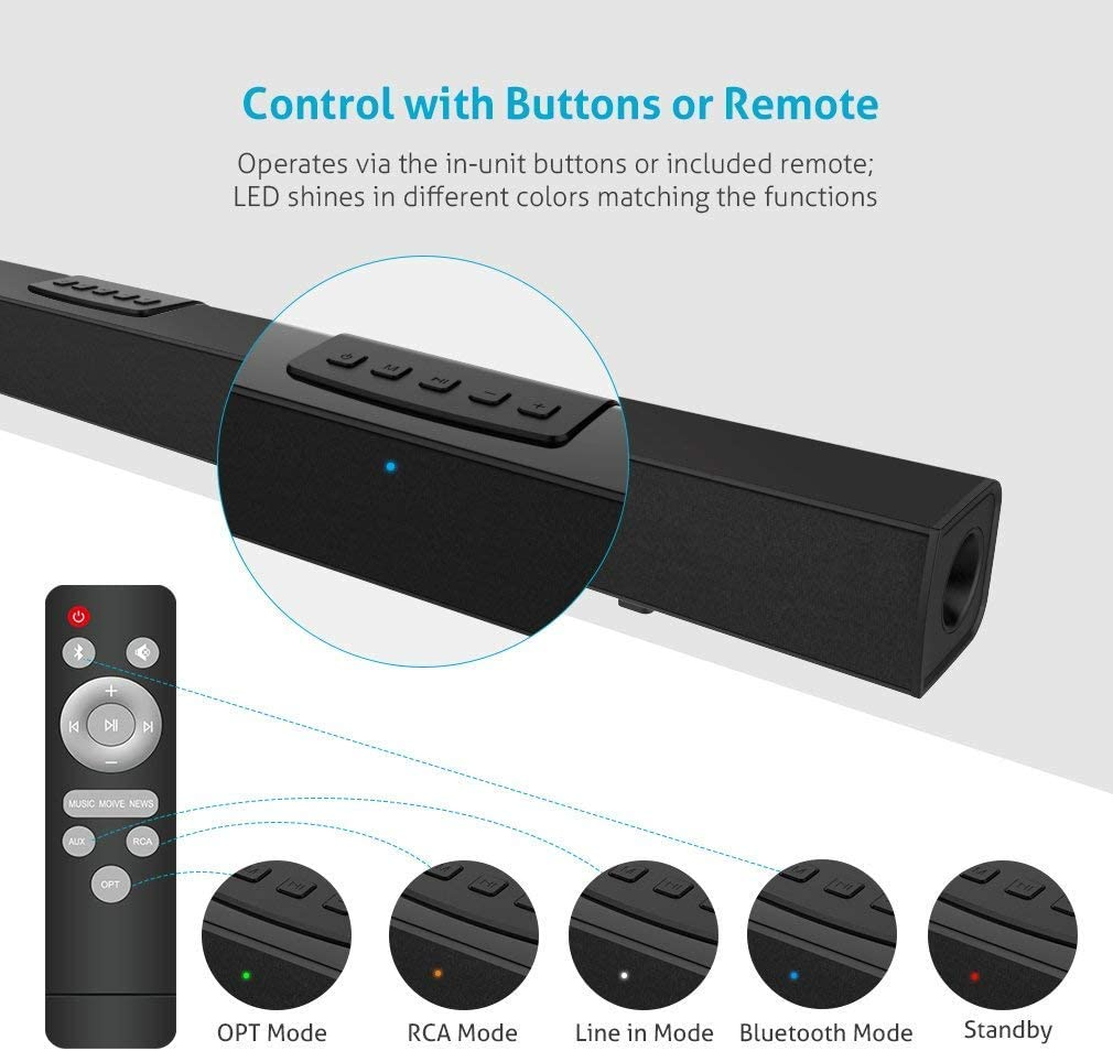 Meidong Sound Bars for TV (35in)