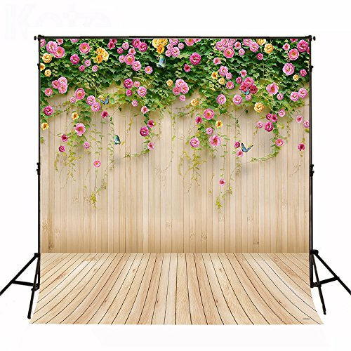 Kate10x10ft Spring Photography Backdrop Wood Wall Background Microfiber Seamless Backdrops by Kate (Image #1)