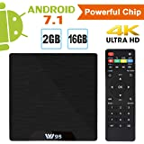 Android TV Box - VIDEN Android 7.1 TV BOX, Smart Android box, Amlogic Quad Core, 2GB RAM, 16GB ROM, 4K Ultra HD, H.264 WIFI 2.4GHz with remote control
