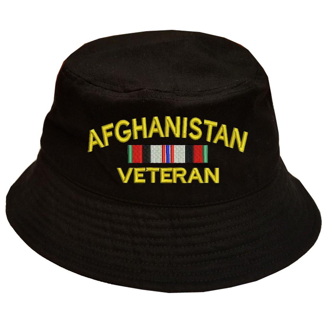 アフガニスタンVeteran Military 100 % Cotton Militaryブラックバケットキャップ帽子   B075FRNFG8